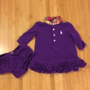 3M Purple Ralph Lauren Long Sleeve Dress